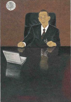 長尾前京大総長からの寄贈絵画